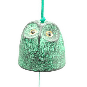 Windchime Green/Gold owl