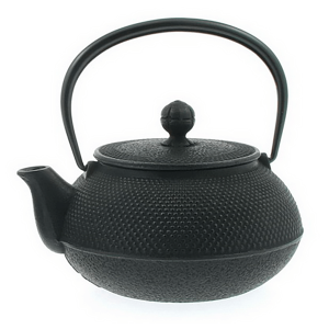 Cast Iron Tea Kettle Hobnail 0.9L (Stovetop Safe)