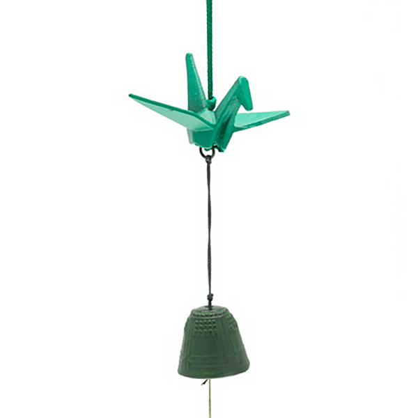 Wind Chime Green Crane (S)